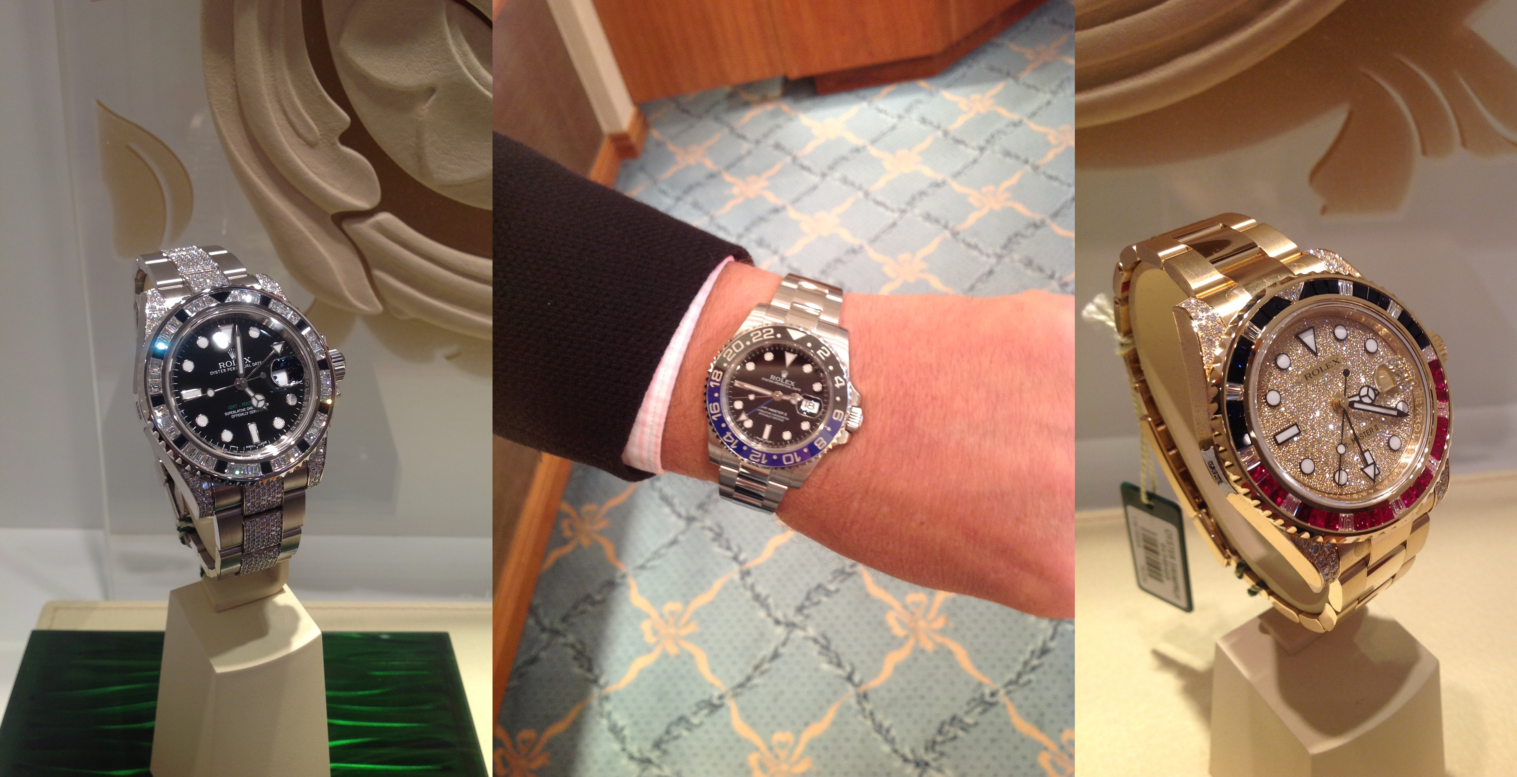 Baselworld 2013 Rolex Collection Displayed At Banks Lyon