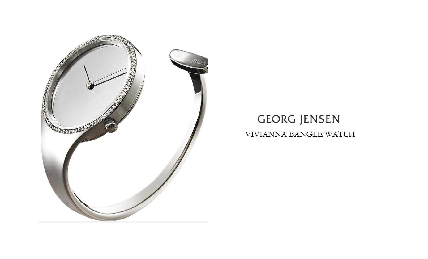 ladies watch of the week georg jensen vivianna bangle watch banks lyon blog. Black Bedroom Furniture Sets. Home Design Ideas