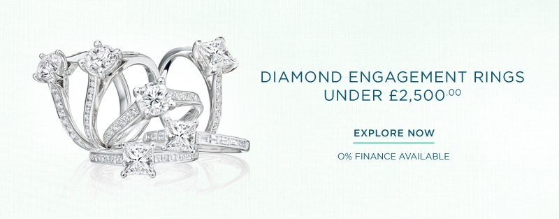 Platinum and Diamond Engagement Rings for Under £2 500