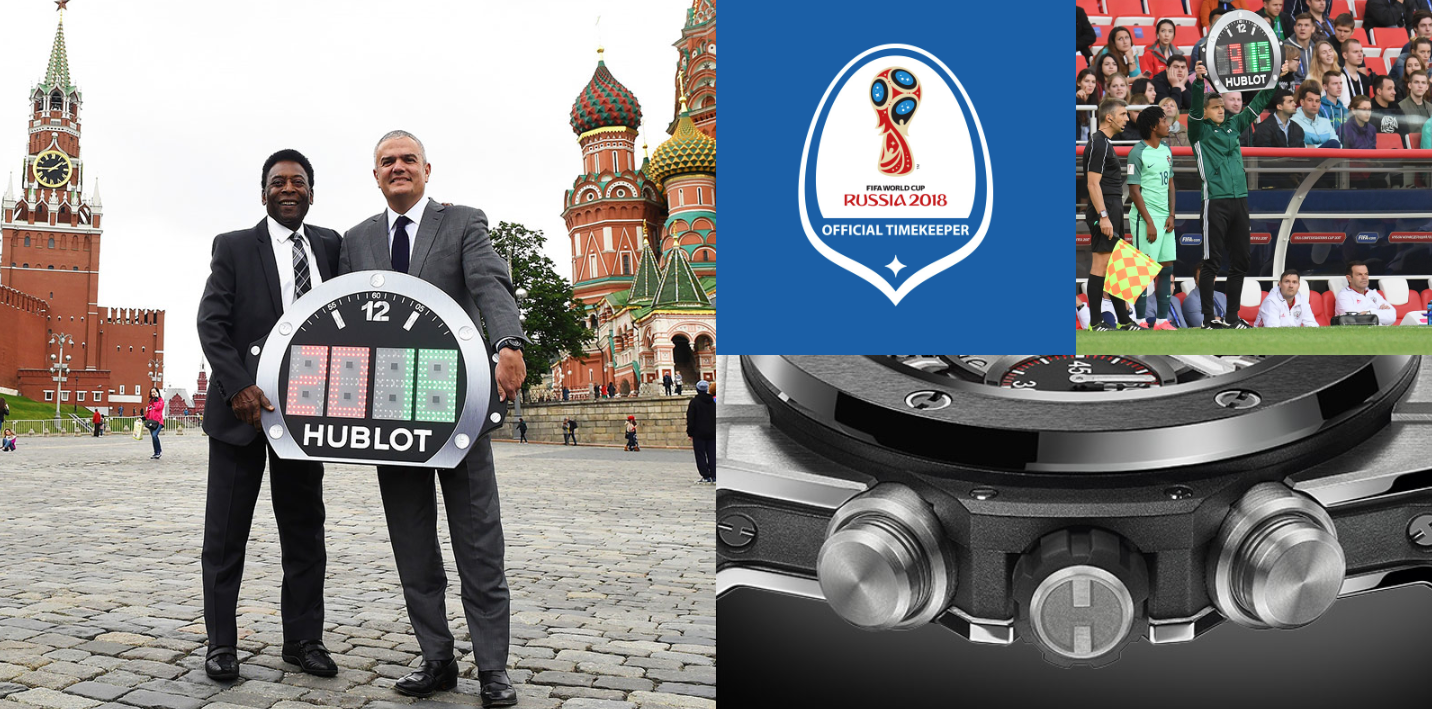 hublot and fifa in russia countdown clock