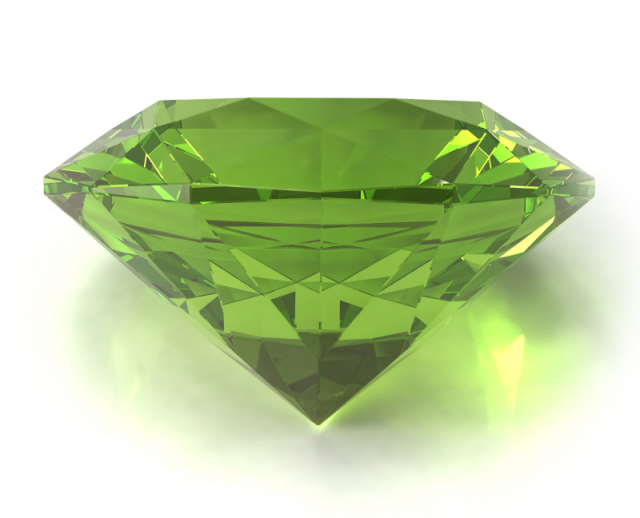 peridot gem as the august birthstone