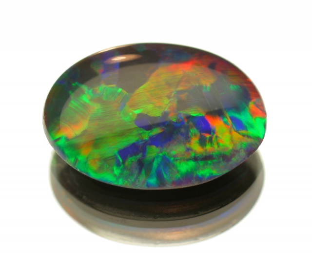 beautiful multicoloured opal gemstone