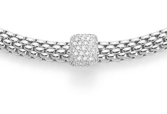 Fope Flex'It Vendome Necklace - White Gold and Pave Set