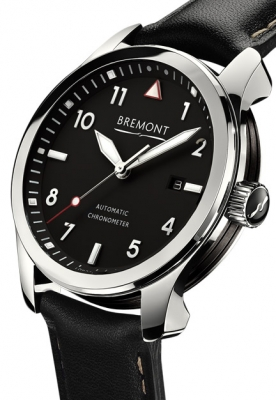 Bremont Solo Polished Steel Black Dial Watch