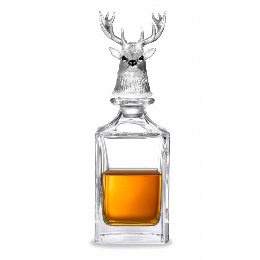 Deakin & Francis Stag Head Crystal Decanter