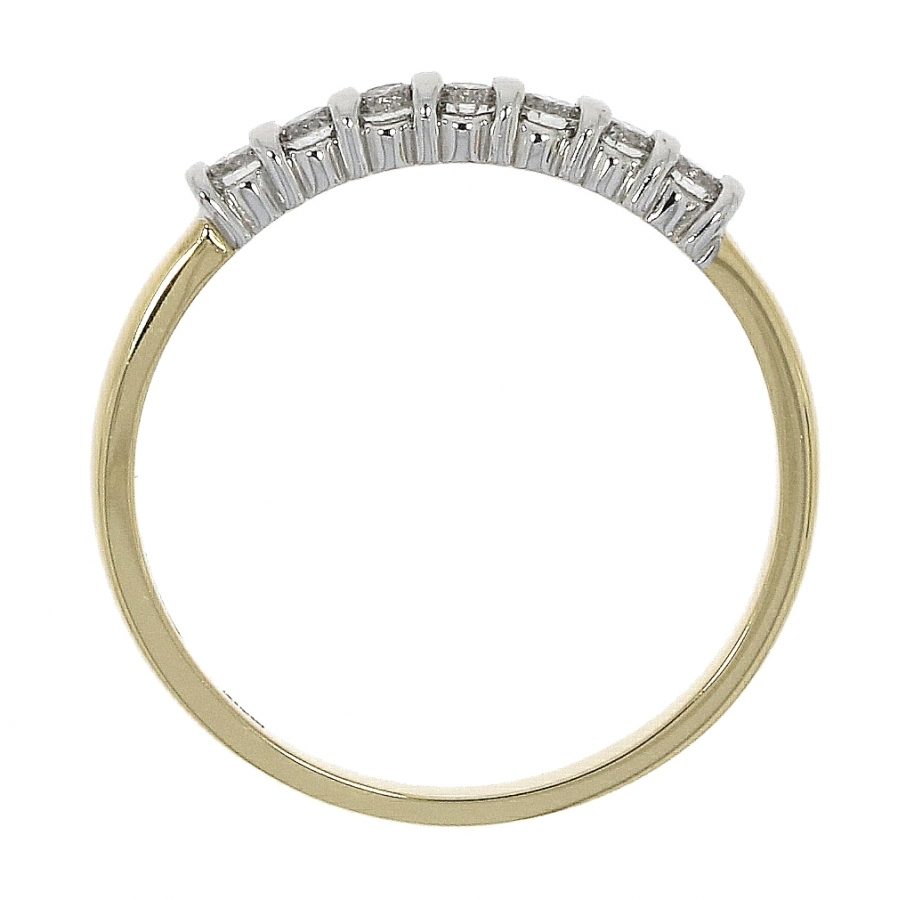 18ct Yellow & White Gold 0.25ct Brilliant Cut Diamond Eternity Ring