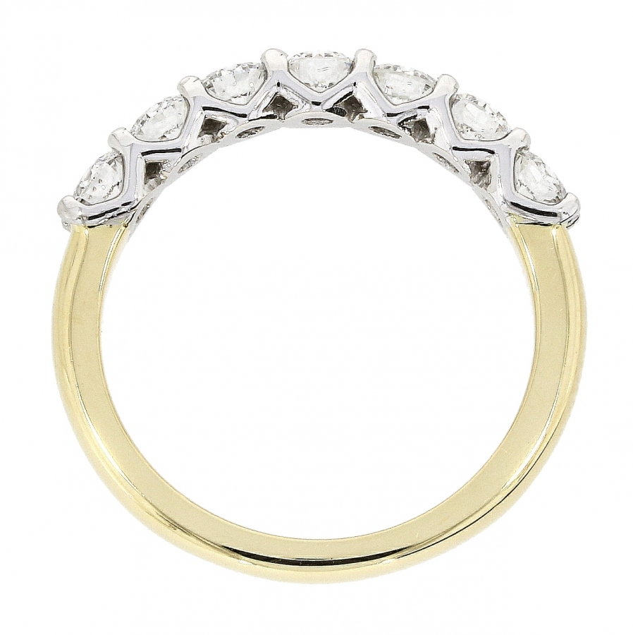 18ct Yellow Gold 1.29ct Seven Stone Eternity Ring
