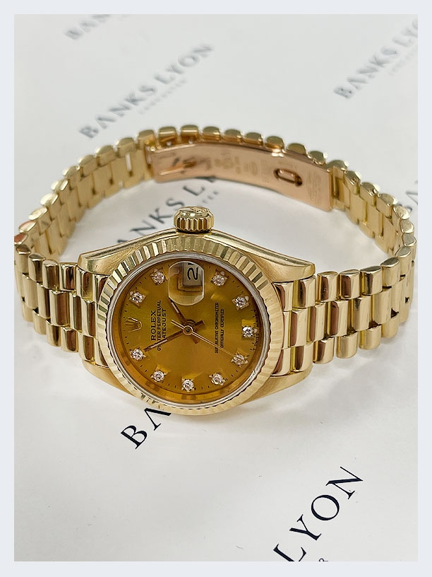 Pre Owned Rolex 26mm Diamond Datejust Watch
