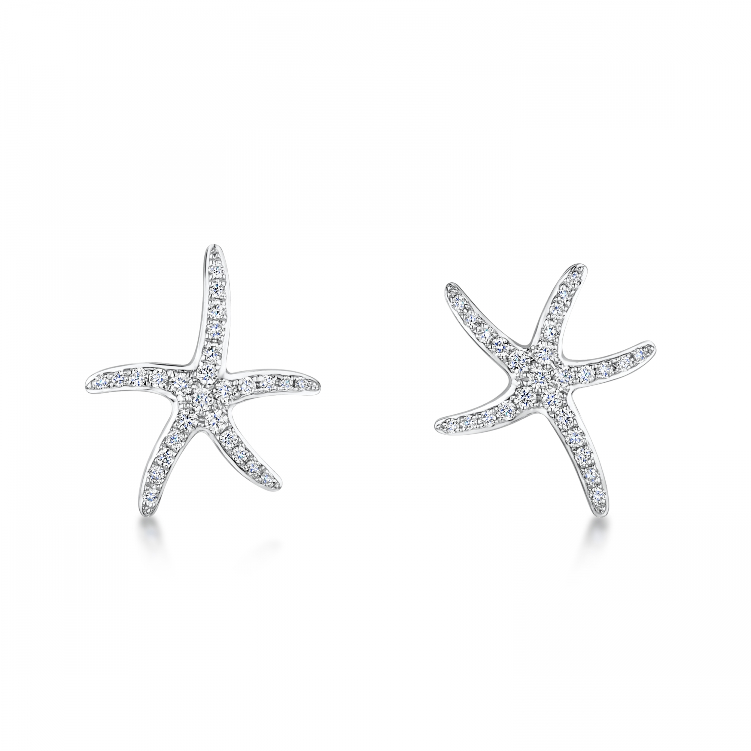 for sea full women accessories new fashion starfish chsoul zirconia earrings stud pin star jewelry