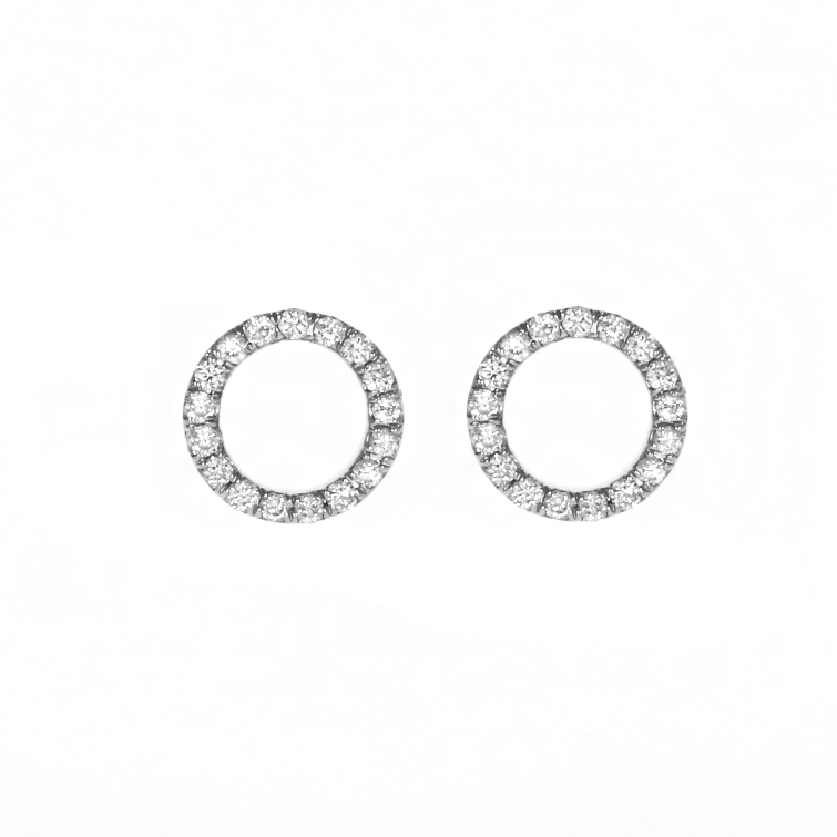 angel silver stud dainty earrings lisa sterling circle open