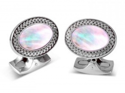 Deakin & Francis Oval Mother of Pearl Cufflinks