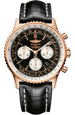 Breitling Navitimer 01 Rose Gold on Leather Strap 43mm Watch