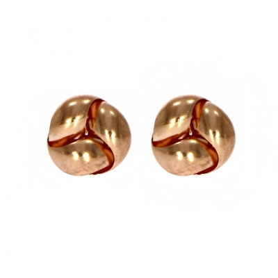 9ct Rose Gold Interwoven Knot Stud Earrings