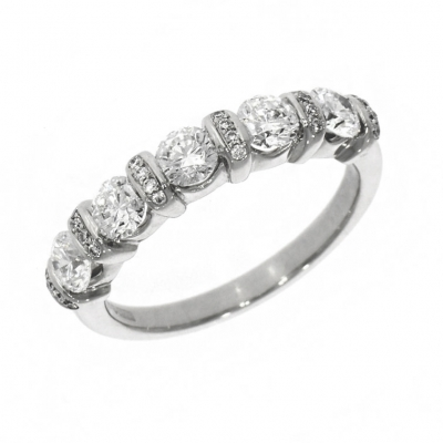 Platinum 1.14ct Brilliant Cut Five Stone Diamond Eternity Ring