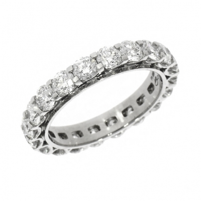 Platinum 3.02ct Brilliant Cut Diamond Full Eternity Ring