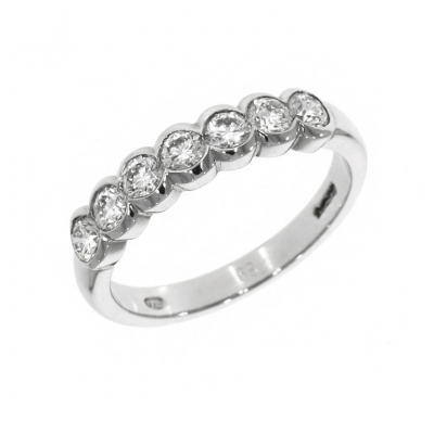 Platinum 0.69ct Brilliant Cut Diamond Set Eternity Ring