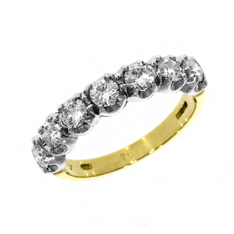 18ct Yellow & White Gold 0.94ct Brilliant Cut Diamond Eternity Ring