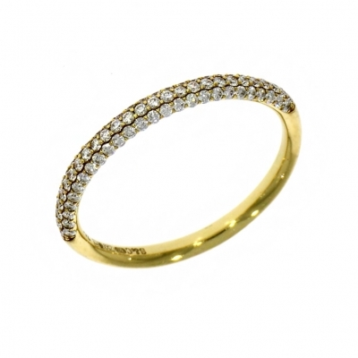 18ct Yellow Gold Diamond Pave Set Eternity Ring