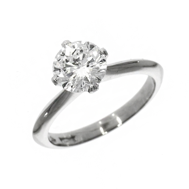 Pre Owned: Platinum 1.54ct Brilliant Cut Diamond Solitaire Ring