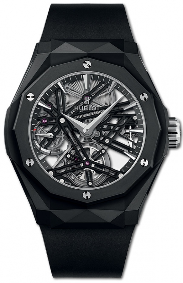 "Hublot Classic Fusion Tourbillon ""Orlinski"" Black Magic 45mm Watch"