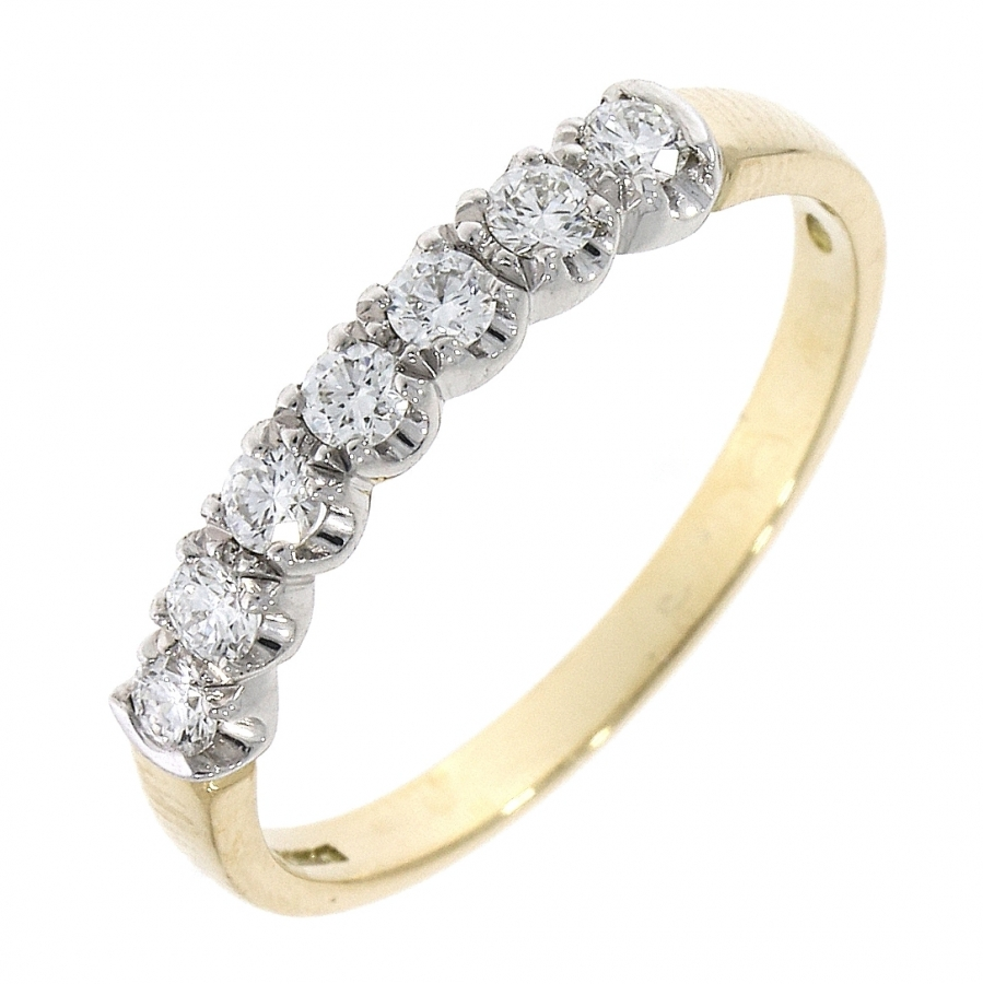 18ct Yellow & White Gold 0.30ct Brilliant Cut Diamond Eternity Ring