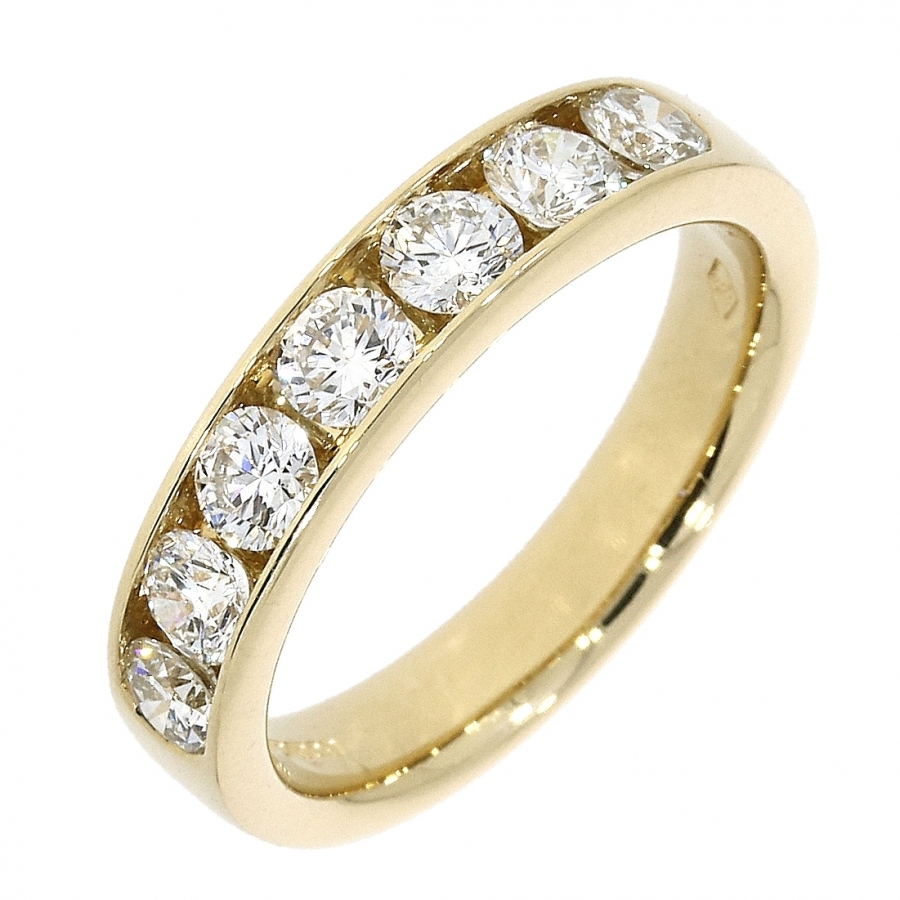 Platinum 1.00ct Brilliant Cut Diamond Eternity Ring