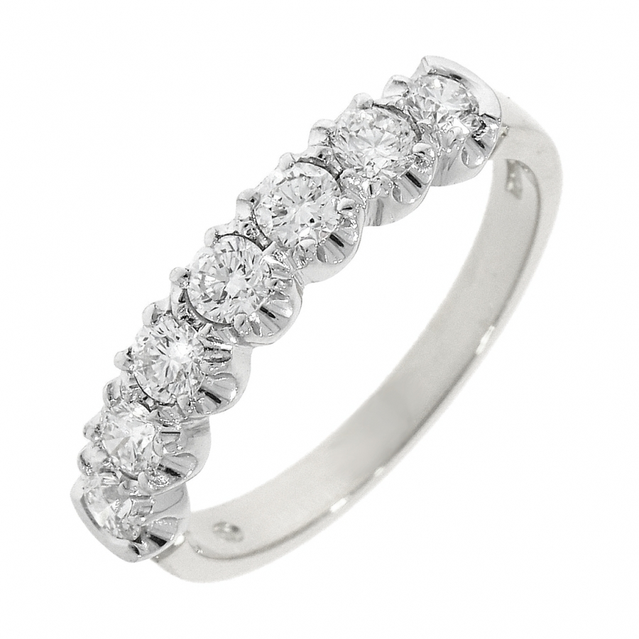 Platinum 0.58ct Brilliant Cut Diamond Eternity Ring