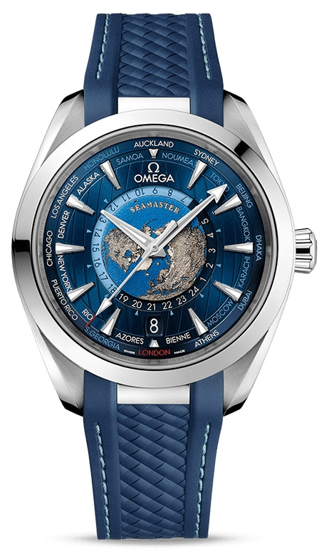 OMEGA Seamaster Aqua Terra Master Co-Axial GMT Worldtimer Watch