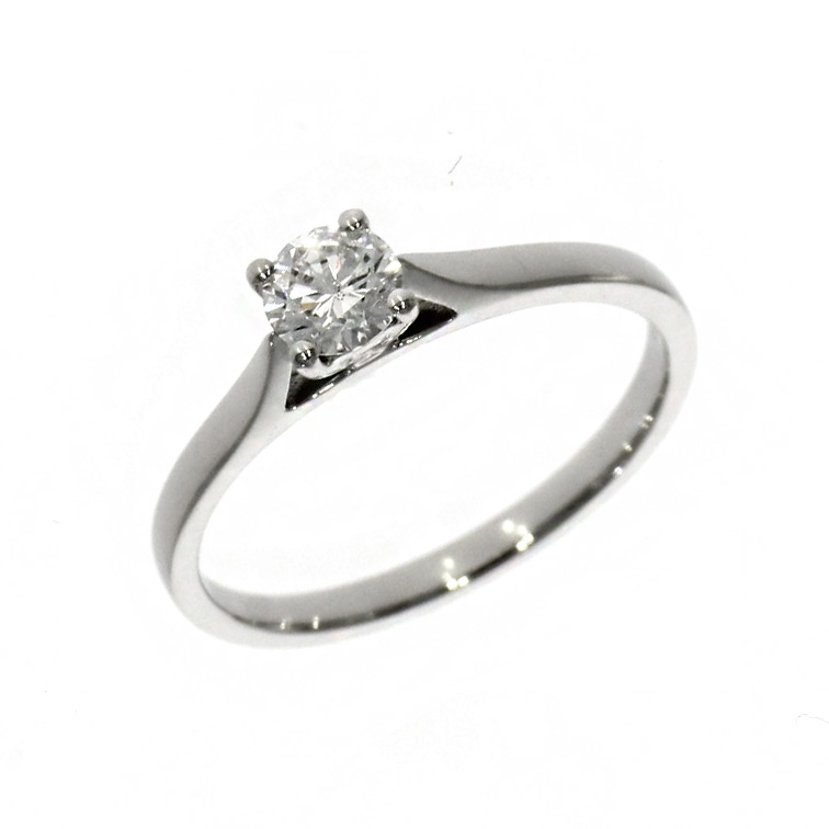 Plantinum 0.34ct Brilliant Cut Diamond Solitaire Ring