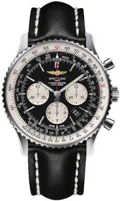 Breitling Navitimer 01 Steel on Leather Strap 46mm Watch