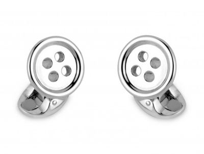 Deakin & Francis Sterling Silver Button Cufflinks