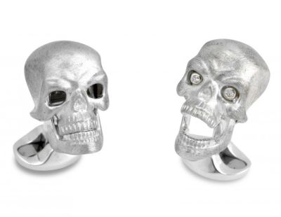Deakin & Francis Diamond Eye Skull Cufflinks