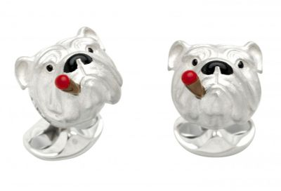 Deakin & Francis Bulldog with Cigar Cufflinks