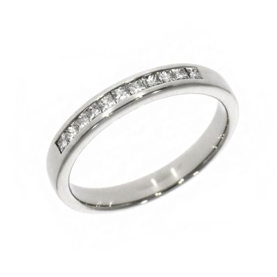Platinum 0.27ct Princess Cut Diamond Eternity Ring