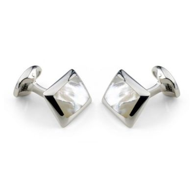 Deakin & Francis Oblong Cufflinks with White Mother of Pearl Inlay