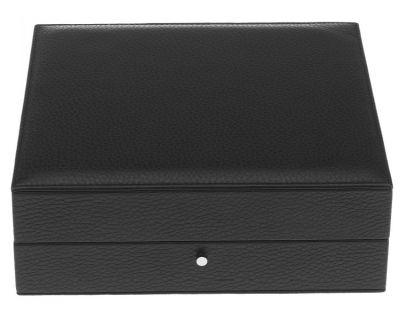 Rapport Black Leather Cufflink Box