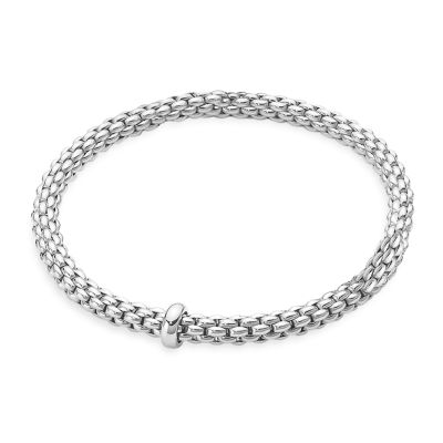 Fope Flex'It Solo White Gold Bracelet