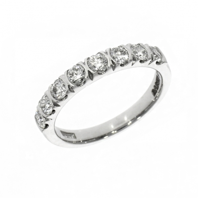 Platinum 0.71ct Brilliant Cut Diamond Affinity Eternity Ring