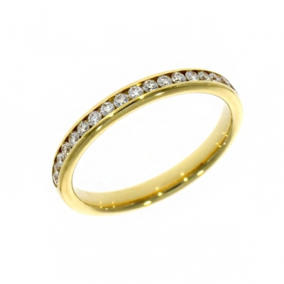 18ct Yellow Gold 0.31ct Brilliant Cut Diamond Eternity Ring