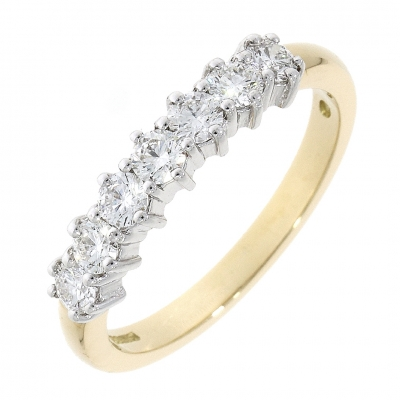 18ct Yellow & White Gold 0.61ct Brilliant Cut Diamond Eternity Ring