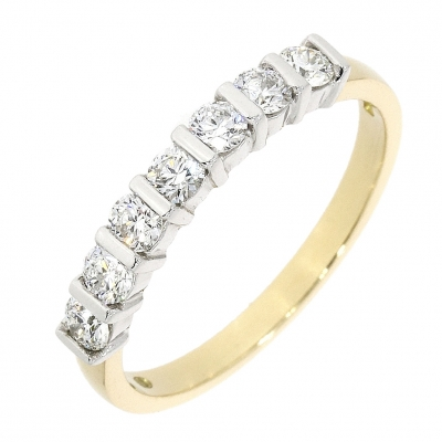 18ct Yellow & White Gold 0.80ct Diamond Eternity Ring