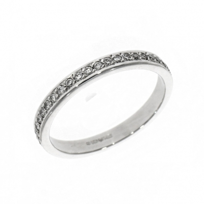 18ct White Gold 0.22ct Brilliant Cut Diamond Eternity Ring