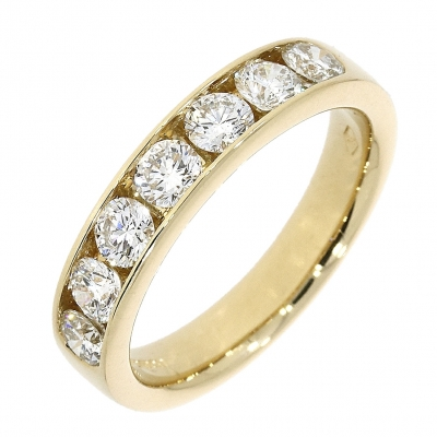 18ct Yellow Gold 1.00ct Brilliant Cut Diamond Eternity Ring