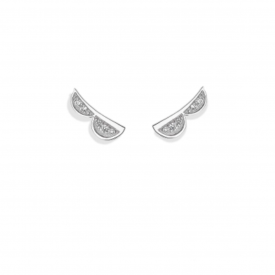 VIXI Lace Collection Silver Stud Earrings
