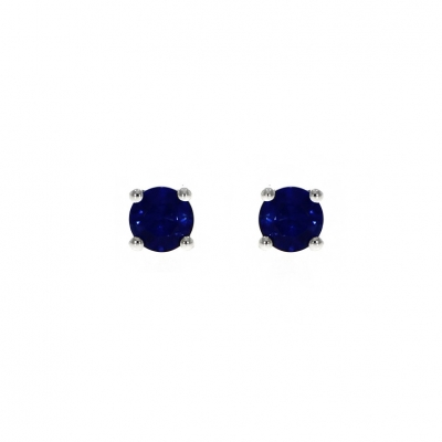 18ct White Gold 0.60ct Sapphire Stud Earrings