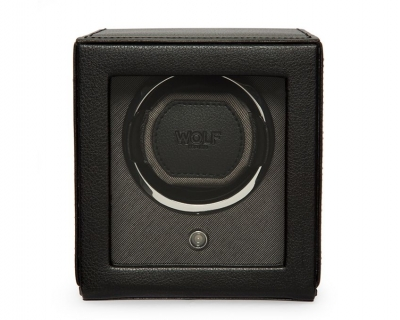 Wolf Black Cub Watch Winder With Cover