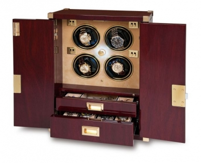 Rapport Mariner's Chest Mahogany Watch Winder