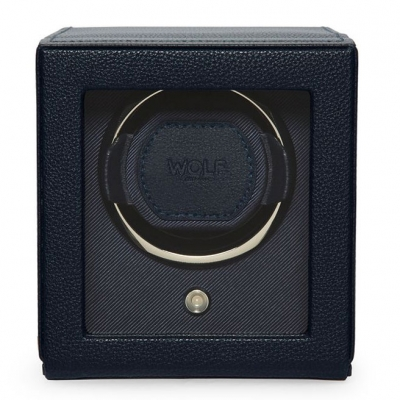 WOLF Navy Cub Watch Winder with Cover