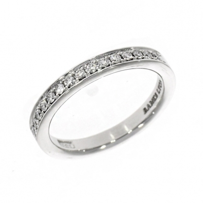 Platinum 0.24ct Brilliant Cut Diamond Memoire Classic Eternity Ring