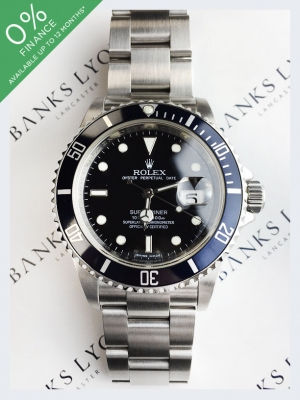 Pre Owned Rolex Submariner Date Stainless Steel Watch